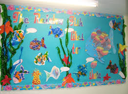 rainbow fish classroom display photo sparklebox