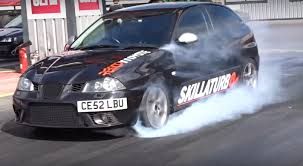volkswagen diesel rolling coal 310 hp seat ibiza 1 9 tdi does toxic quarter mile run autoevolution
