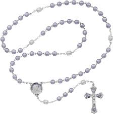 purple rosary lavander pearl rosary 7mm
