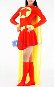 Superwoman Halloween Costumes Star Supergirl Cosplay Costume Lycra Halloween Cosercosplay