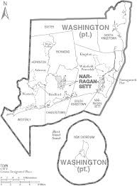 Washington County Maps File Map Of Washington County Rhode Island With Municipal Labels