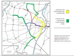 Map Of St Louis Area Citizens For Modern Transit 4 Light Rail Expansion Routes To Be