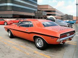 Dodge Challenger Orange - dodge challenger old model tuned cars desktop wallpaper hd
