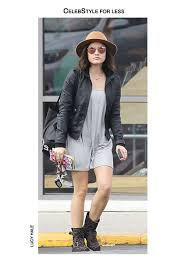 jacket leather jacket bomber jacket lucy hale celebstyle for