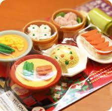 cuisine chinoise stylo crayon gomme kawaii set de 7 gommes japonaises kawaii