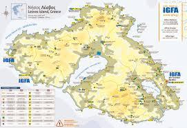 Aegean Sea Map Lesbos Sightseeing Map