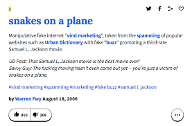 What Is A Meme Urban Dictionary - 10 years ago snakes on a plane was the first movie to become a meme
