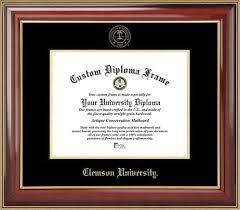 clemson diploma frame clemson diploma frame embossed seal mahogany gold