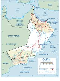 map of oman oman airfields