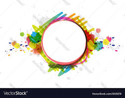 watercolor paint design artwork royalty free vector image