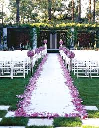 Wedding Ceremony Decoration Ideas 50 Best Garden Wedding Aisle Decorations Pink Lover