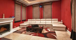 cool home theater roomscool home theater with cozy sofa for comfy