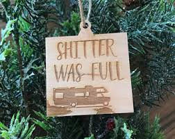 shitters ornament etsy