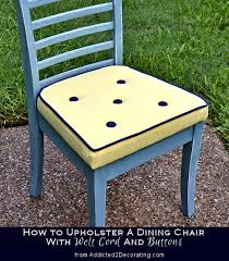 how to upholster a dining chair with welt cord u0026 buttons