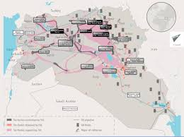 Syria War Map by At War Against The Islamic State From Syria To The Region The