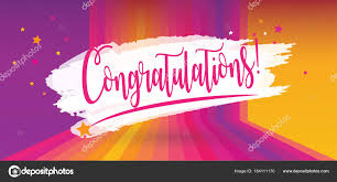 congratulation poster congratulations card calligraphy lettering vector celebration