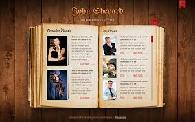 html5 templates for books john shepard writer personal page html5 template on behance