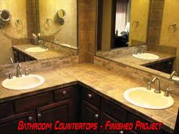 Bathroom Vanity Counters Bath Bathroom Vanity Tile Countertop Remodel Grout Grouting Sealer