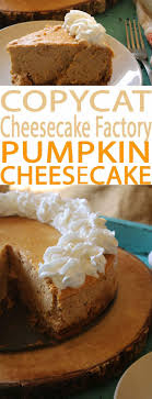 pumpkin cheesecake a cheesecake factory menu favorite