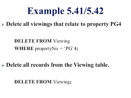Delete All Rows From Table Csc271 Database Systems Lecture 13 Summary Previous Lecture