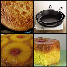 pineapple upside down cake ala cast iron skillet faithfulness farm
