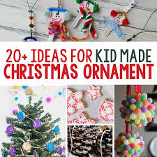 20 beautiful ideas for kid made ornaments