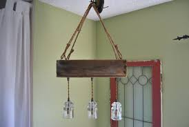 country style diy hanging rustic farmhouse chandelier made from