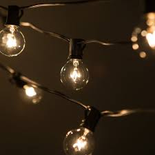 g40 string lights 50 foot g40 patio globe string lights with clear bulbs