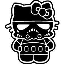 kitty storm trooper star wars vinyl sticker wall
