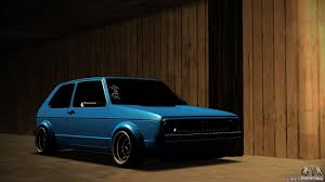 volkswagen golf custom volkswagen golf mk1 euro for gta san andreas