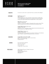 Resume Section Headings On A Resume