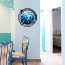 home decor drop shipping 2017 hot submarine portholes underwater world wall sticker home