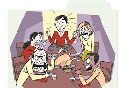 thanksgiving dinner cartoon pics how to have thanksgiving dinner without a family blowup wsj