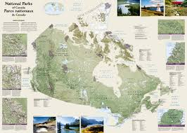 Jasper National Park Canada Map by National Parks Of Canada Countries Wall Maps National