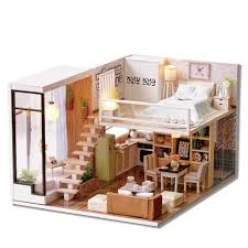 amazon com cuteroom dollhouse miniature diy house kit room 1 24