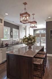 love the paint backsplash and white cabinets with the floor