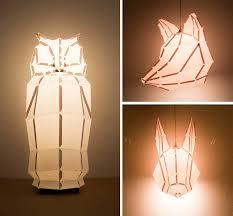 diy foldable paper animal lights gillty pleasure