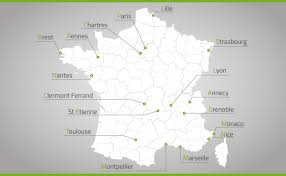 Annecy France Map by National Geographical Mapping Teamsearch