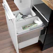kitchen cabinet waste bins oko liner pull out waste bin for recycling kitchen waste 2 x 28