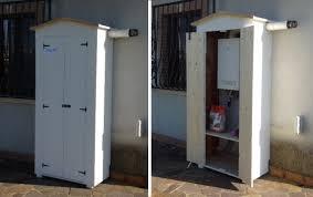 armadi in legno per esterni armadio in legno da esterno cod 04 amico legno shop