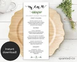 wedding menu cards template best 25 wedding menu template ideas on wedding dinner