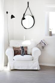 Reading Nook Chair by White Decor Simple White Grey Cat Swedish Design White Chair