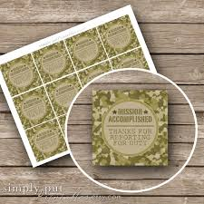 army birthday invitations army camo gift bag tags printable mission accomplished