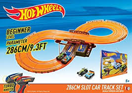 wheels battery operated 9 3 ft slot track toys