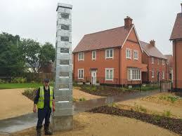 heritage chimney sculpture sible hedingham village essex the