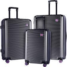 travelers club luggage beijing 3pc expandable hardside luggage set