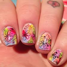 spring nail art from bloggers