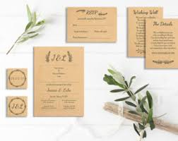 Blank Wedding Invitation Kits Wedding Invitation Kits Etsy Au