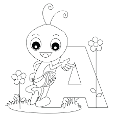 angels letters coloring pages regard free spanish alphabet numbers