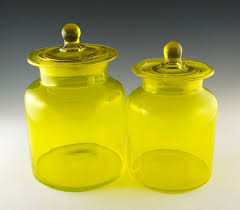 vintage kitchen canister vintage kitchen canister set in lemon yellow retro glass